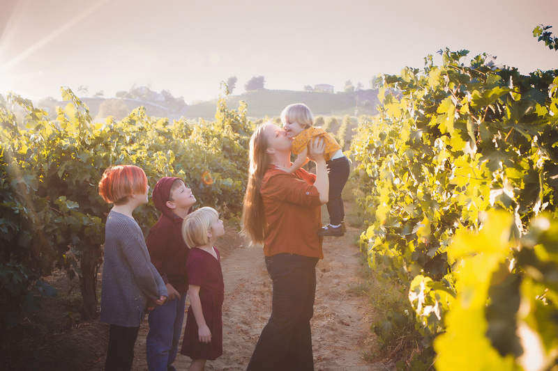 Family portraits in the temecula vinyards